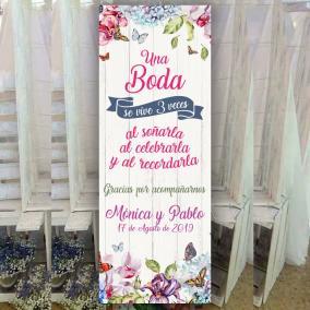 Banner una boda