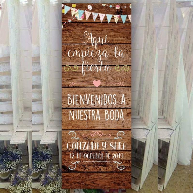 Banner divertido para bodas