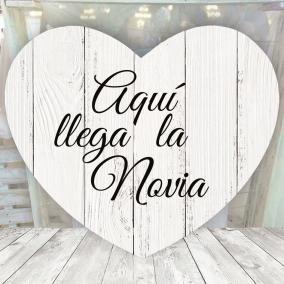 Cartel Corazon Madera