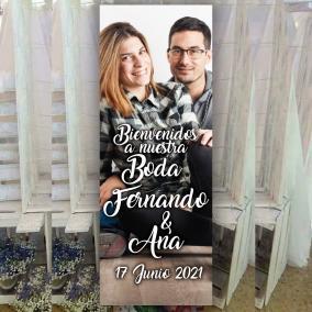 cartel boda personalizado bienvenida