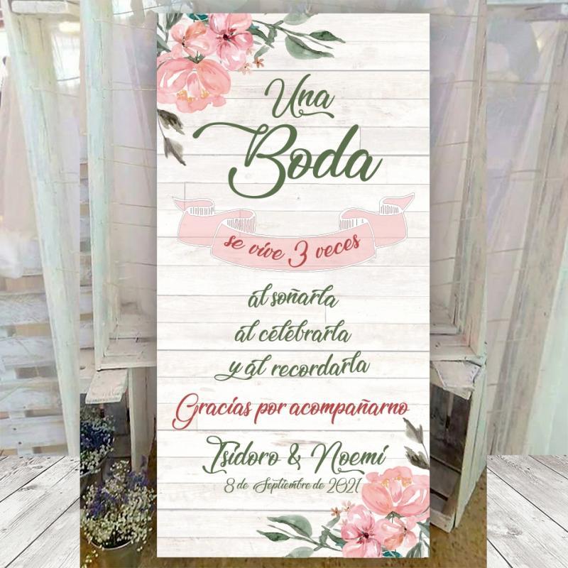 Cartel de bienvenida boda