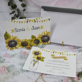 Invitación Girasoles