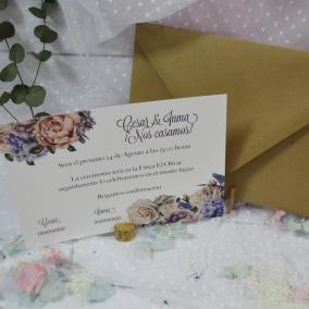 Invitación floral elegante...