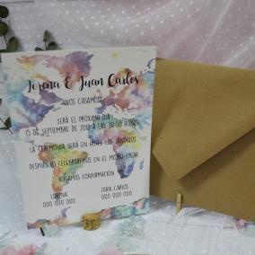 Invitación temática Viajes