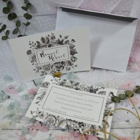 Invitación Flores Salvajes