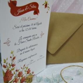 Invitación Floral Roja