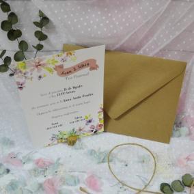 Invitación Floral Alegre