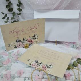Invitación Rosas y Flores Elegantes