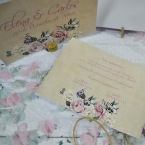 Invitación Rosas Elegantes