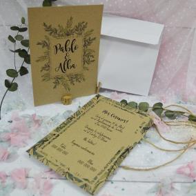 Invitación Kraft Selva