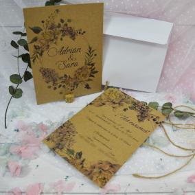 Invitación Kraft Floral