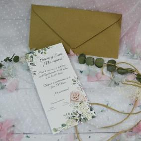 Invitación de Boda Elegante Alargada