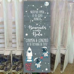 Banner de Bodas Astronautas