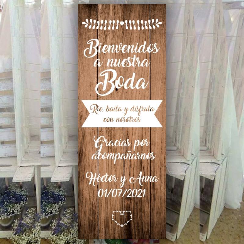 Cartel de Bienvenida para Boda Original