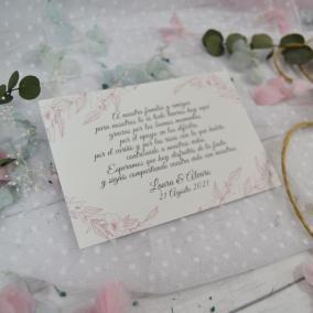 Tarjeta de Agradecimiento Elegante Sencilla