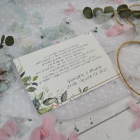 Tarjeta de Agradecimiento Elegante