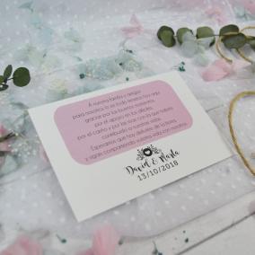 Tarjeta de Agradecimiento Moderna Rosa