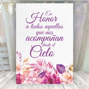 Cartel En Honor a los que nos acompañan en el cielo