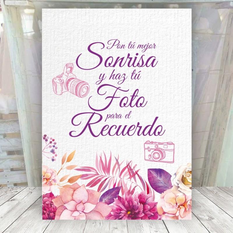Cartel para Photocall de Boda Original