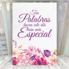Cartel Elegante para señalar el libro de Firmas
