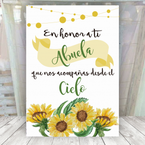 Cartel Girasoles en Honor a...