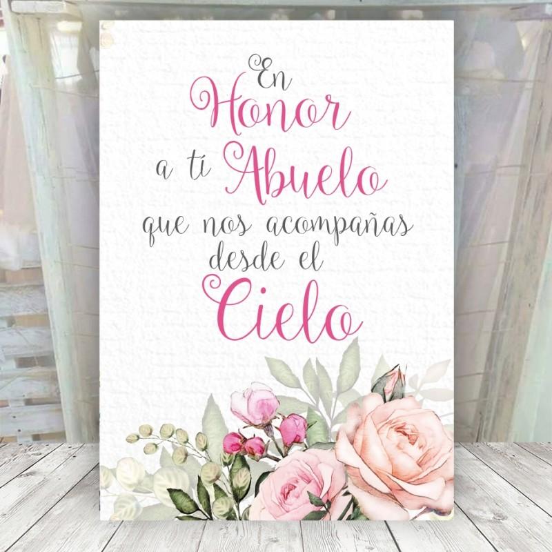 Cartel romántico en honor de...