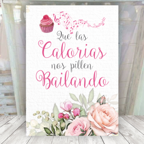 Cartel Romántico para Candy Bar