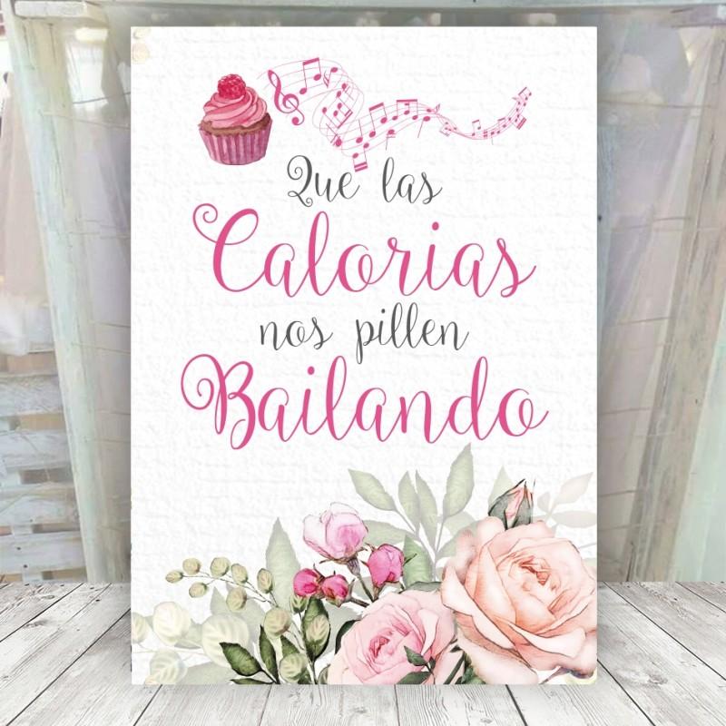 Cartel Romántico para Candy Bar