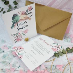 Invitacion barata para boda