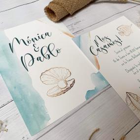 invitacion de boda mar