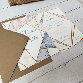 invitacion de boda marmol