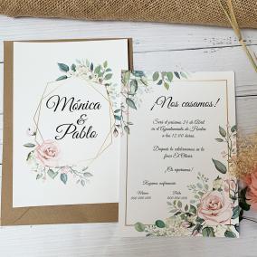 Invitación Elegante Rosa