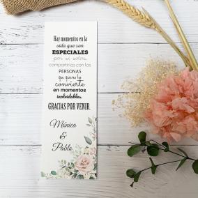 Tarjeta de Agradecimiento Elegante Rosa