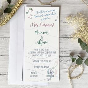 invitacion de boda musica