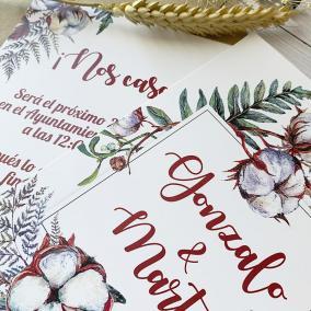 invitacion de boda elegante