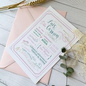 invitacion de boda bonita