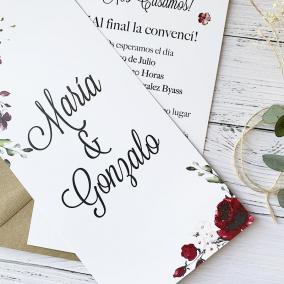 invitacion elegante boda