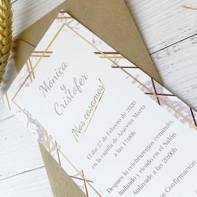 invitacion de boda moderna