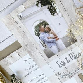 invitacion de boda barata con foto
