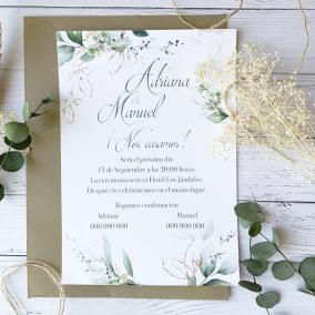 Invitación Elegante Oro
