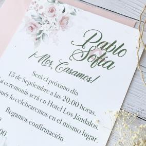 invitacion de boda romantica con foto