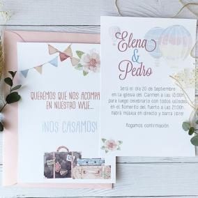 Invitacion de boda viajes