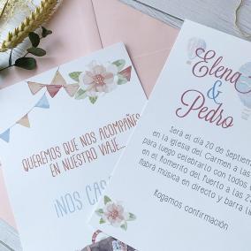 invitacion de boda viaje barata