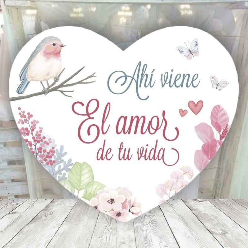 Cartel pajarito ahi viene el amor de tu vida