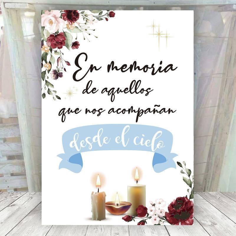 Cartel recuerdos para bodas