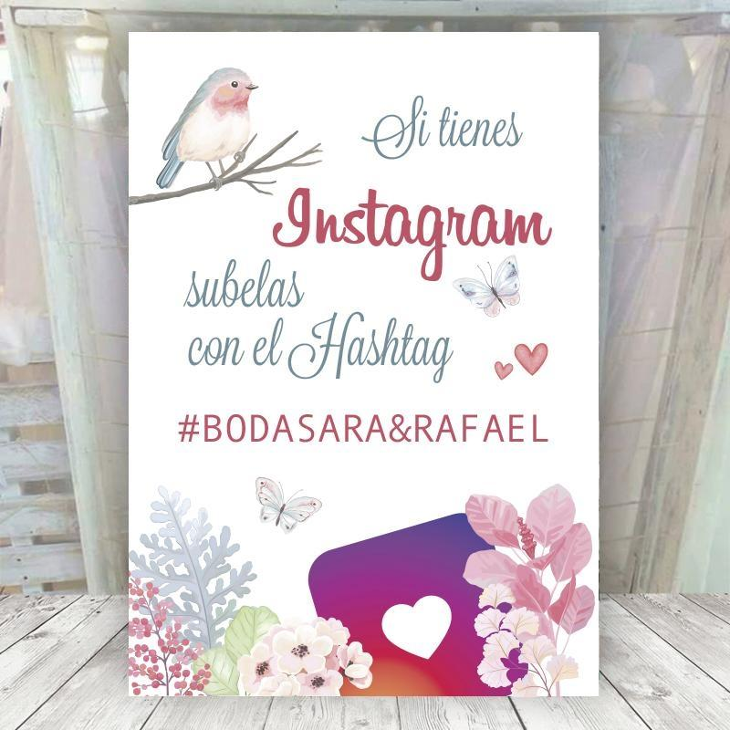 Cartel Boda Primavera Instagram
