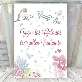 Cartel Boda Primavera Candy Bar