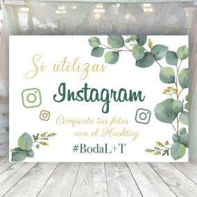 Cartel Boda Eucalipto Instagram