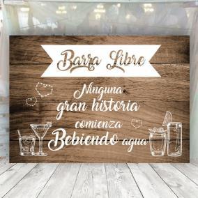 Cartel Vintage para Barra Libre