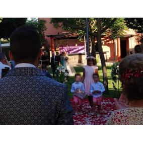 cartel madera ya llega la novia